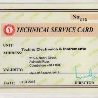 Technical service card